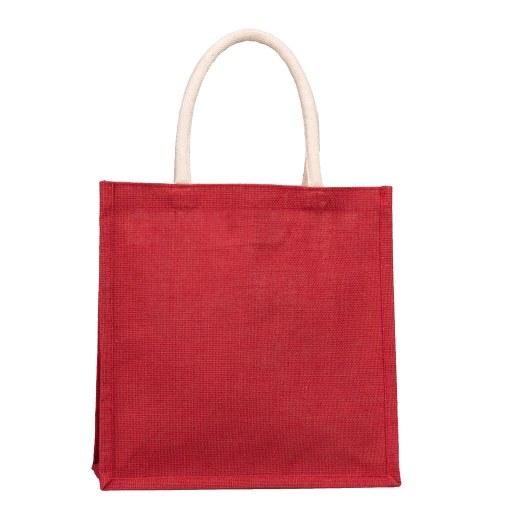 Bolsa de Yute roja 33x33x15 (cm)