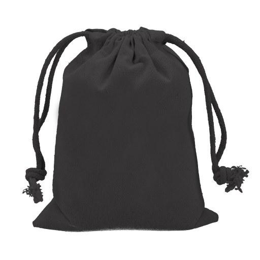 Saquito de Algodón  negro 19x14 (cm)