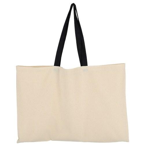 Bolsa de Algodón con manilla negra 40x60 (cm)