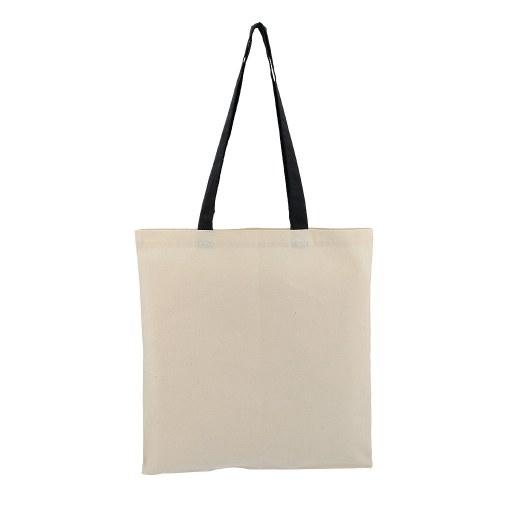 Bolsa de Algodón con manilla negra 42x38 (cm)