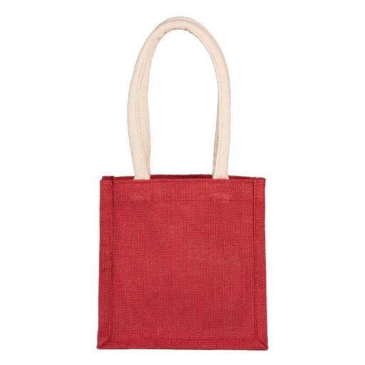 Bolsa de Yute roja 20x20x15 (cm)