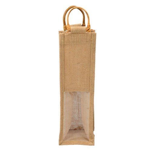 Bolsa de Yute para 1 Botella de Vino (media ventana) 35x10x10 (cm)