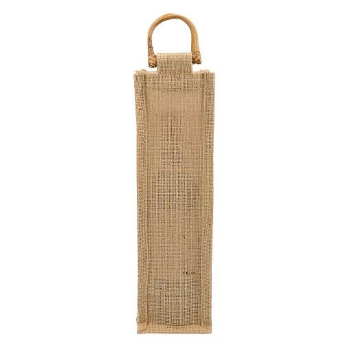 Bolsa de Yute para 1 Botella de Vino 35x10x10 (cm)