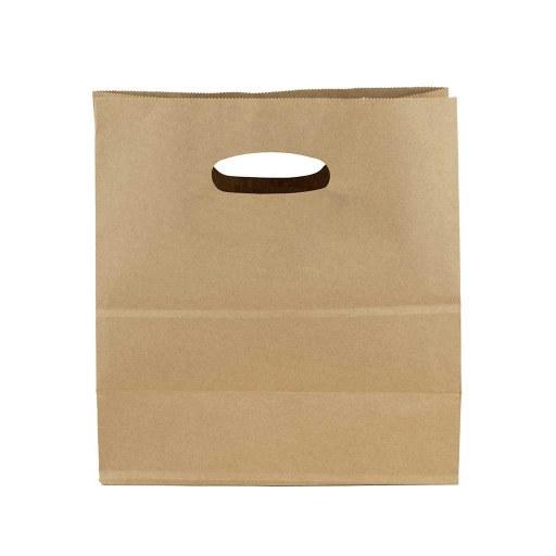 Bolsa de papel kraft 28x28x15 (cm) - Asa Troquelada