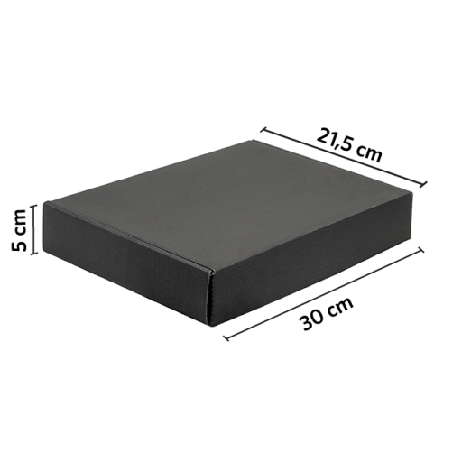 CAJA autoarmable 30x21.5x5 NEGRO