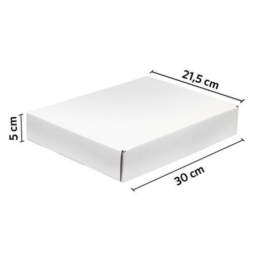 CAJA autoarmable 30x21.5x5 BLANCO