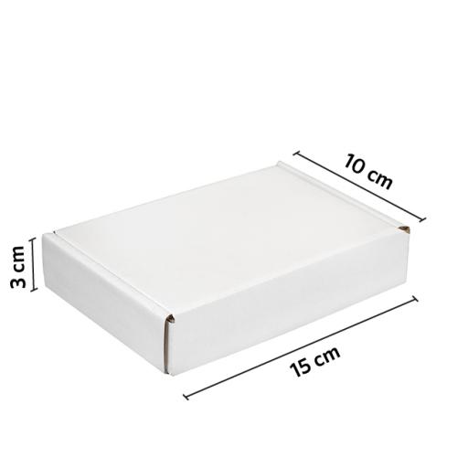 CAJA autoarmable 15x10x3 BLANCO