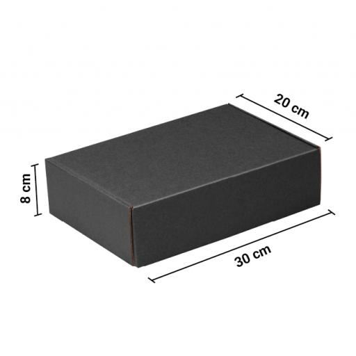 Caja Autoarmable 30x20x8 Negra