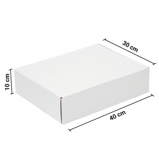 Caja Autoarmable 40x30x10 Blanca