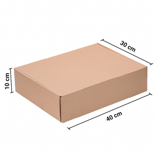 Caja Autoarmable 40x30x10 Kraft