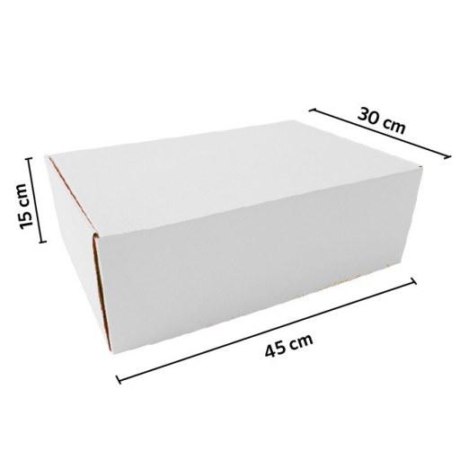 Caja autoarmable 45x30x15 BLANCA