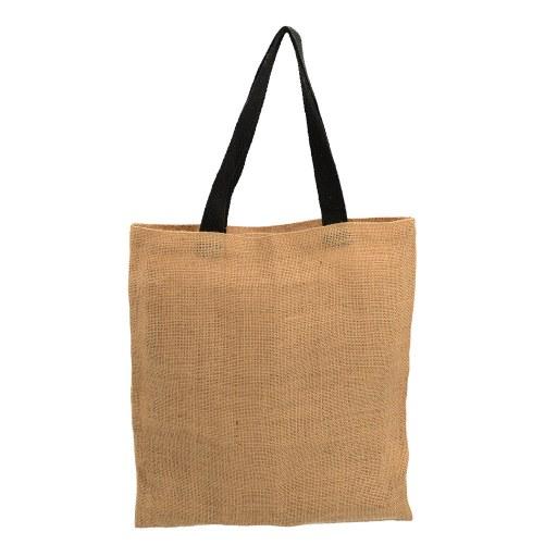 Bolsa de Yute con manilla negra 40x35 (cm)
